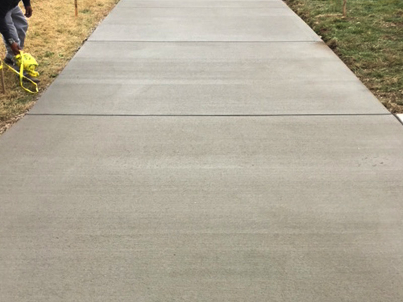 C And M Concrete Broom Finished Driveway and Sidewalk- 5