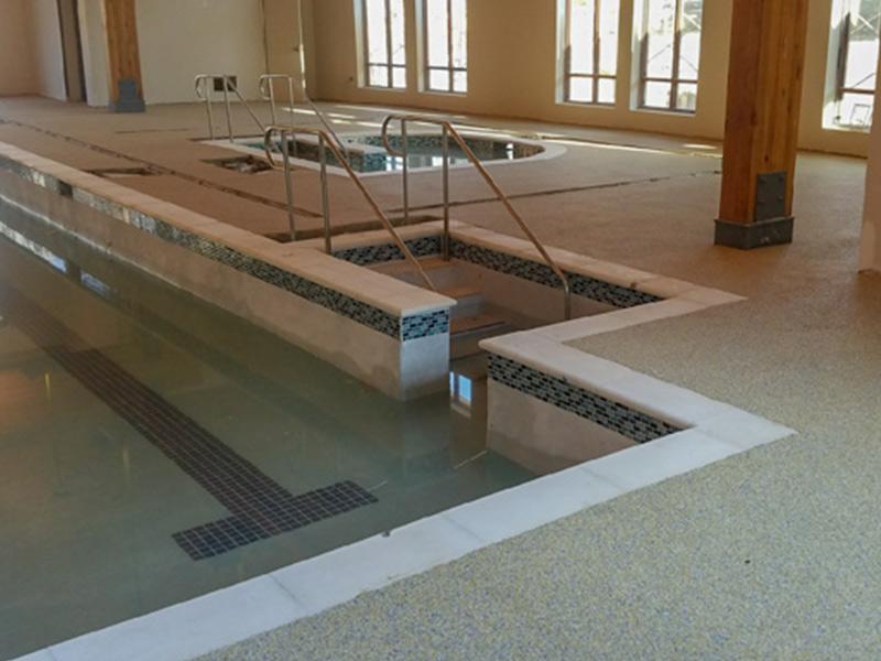C & M Concrete Rubaroc Indoor Pool -6