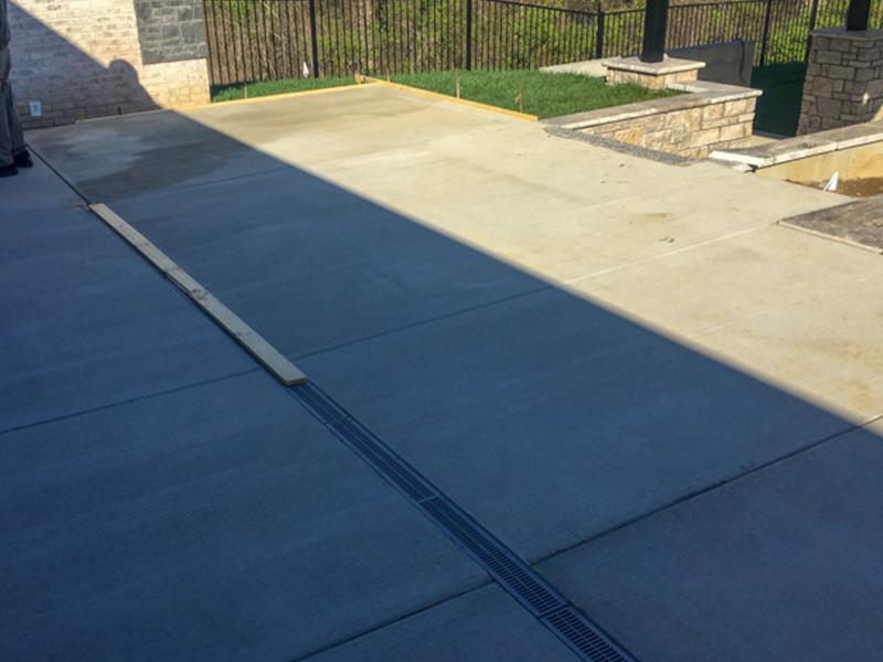 C & M Concrete Rubaroc Indoor Pool Patio-3