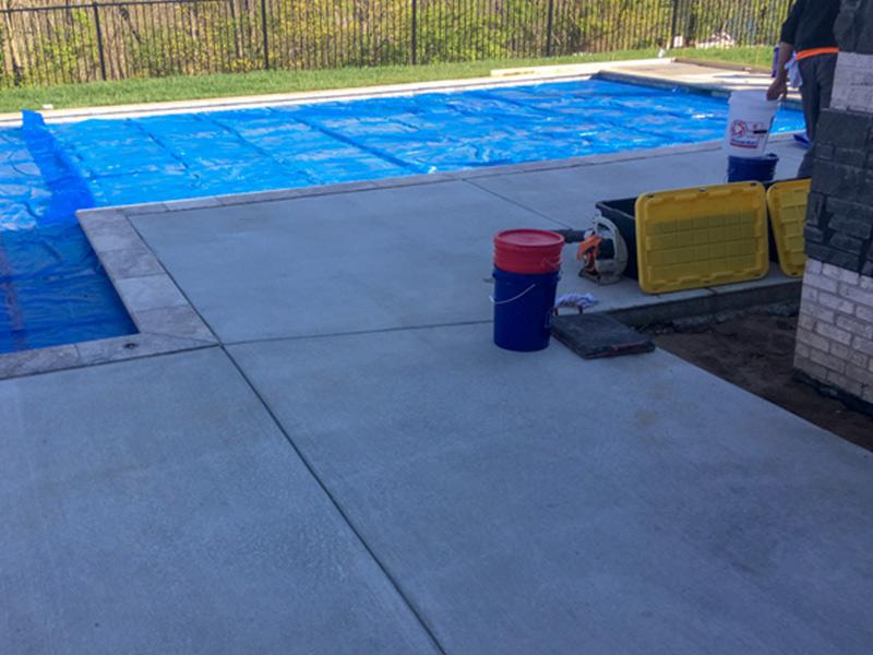 C & M Concrete Rubaroc Indoor Pool Patio-4