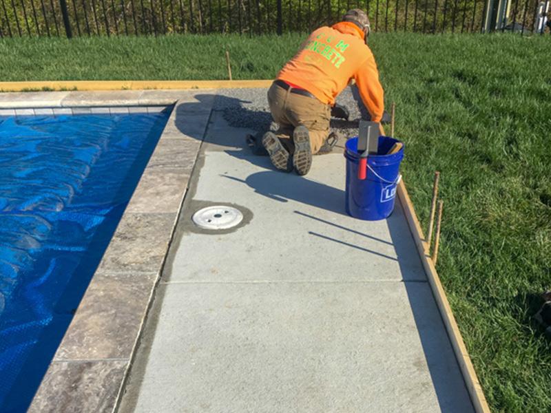 C & M Concrete Rubaroc Indoor Pool Patio-7