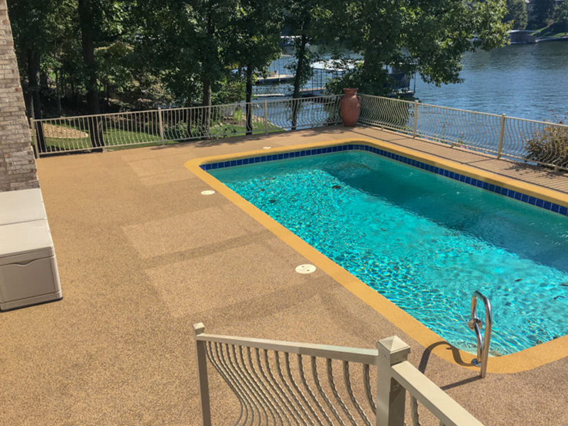 C & M Concrete Rubaroc Pool Deck 12