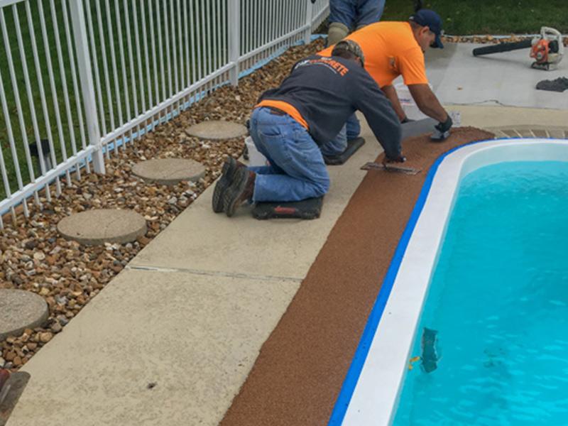 C & M Concrete Rubaroc Pool Deck-12