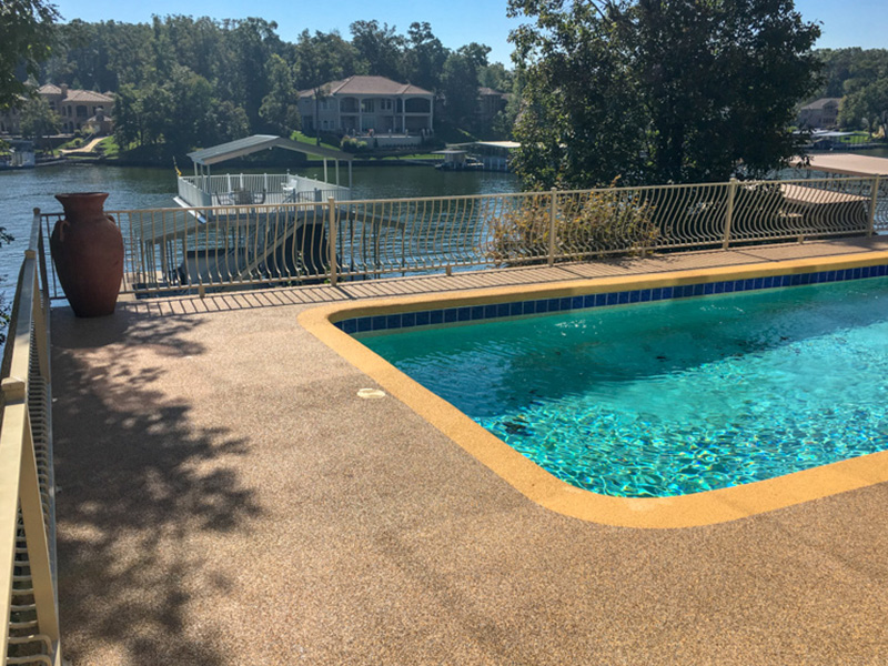C & M Concrete Rubaroc Pool Deck 17