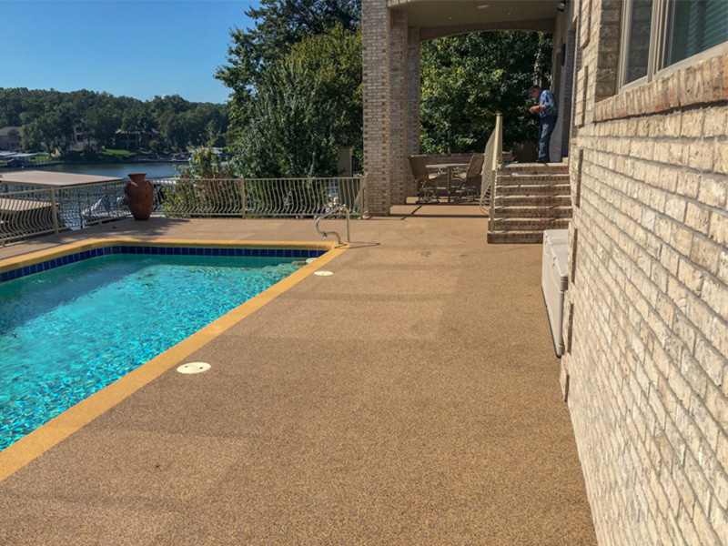 C & M Concrete Rubaroc Pool Deck 18