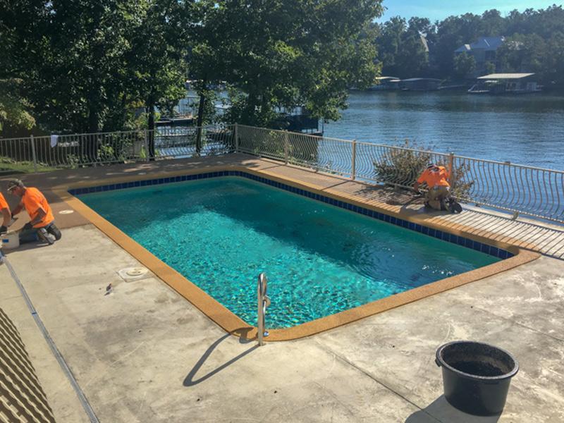 C & M Concrete Rubaroc Pool Deck 3