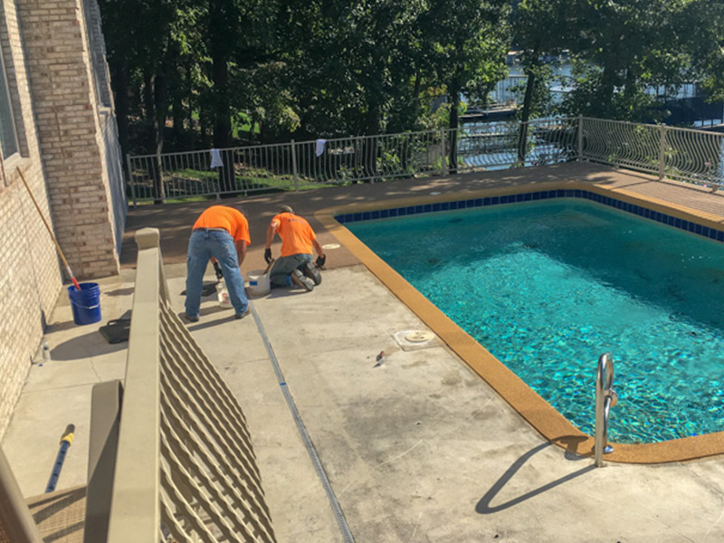 C & M Concrete Rubaroc Pool Deck 4