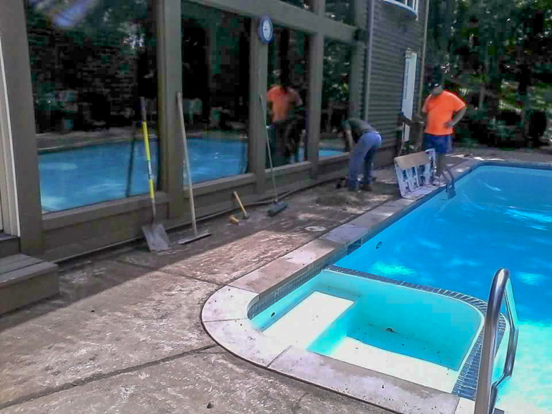 C & M Concrete Rubaroc Pool Deck-6