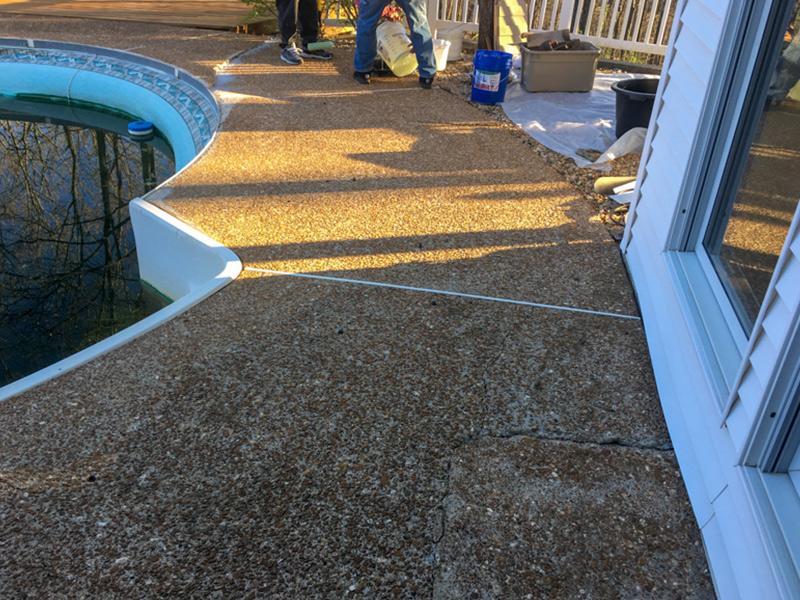 C & M Concrete Rubaroc Pool Deck 7