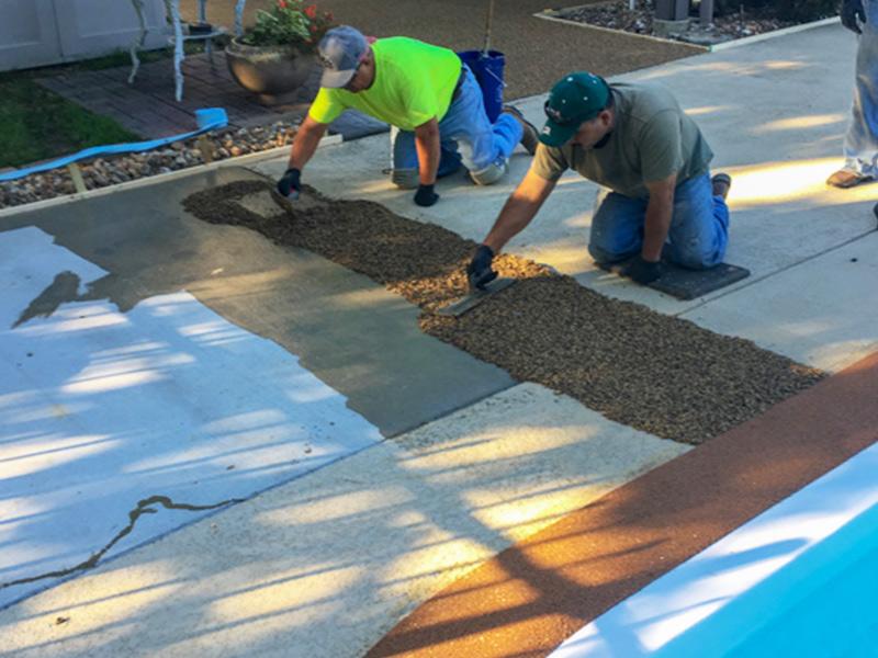 C & M Concrete Rubaroc Pool Deck-9