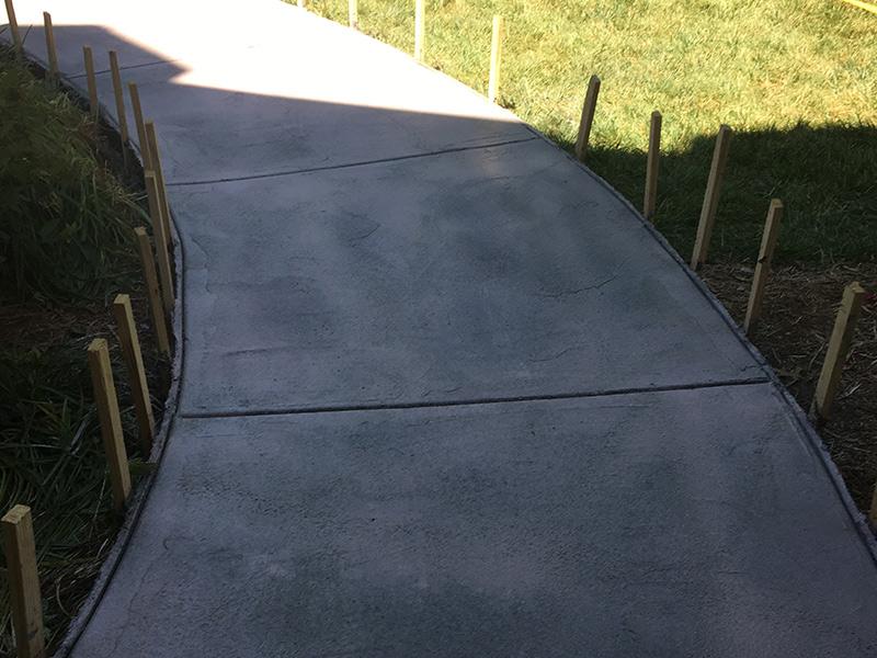 C and M Concrete Broom Swept Driveway Sidewalk -1