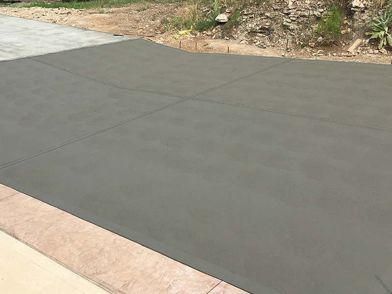 C and M Concrete Broom Swept Driveway Sidewalk -2