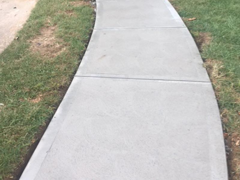 C and M Concrete Driveway Rubaroc porch -3