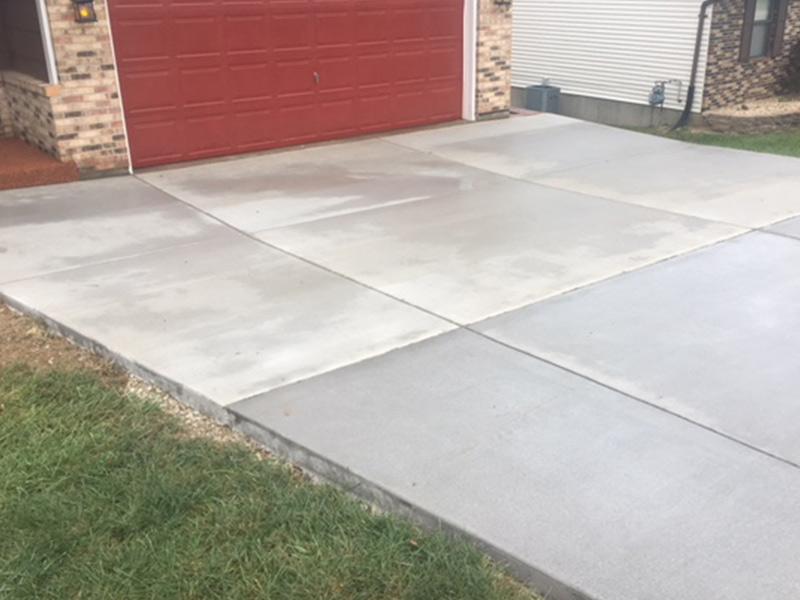 C and M Concrete Driveway Rubaroc porch -5