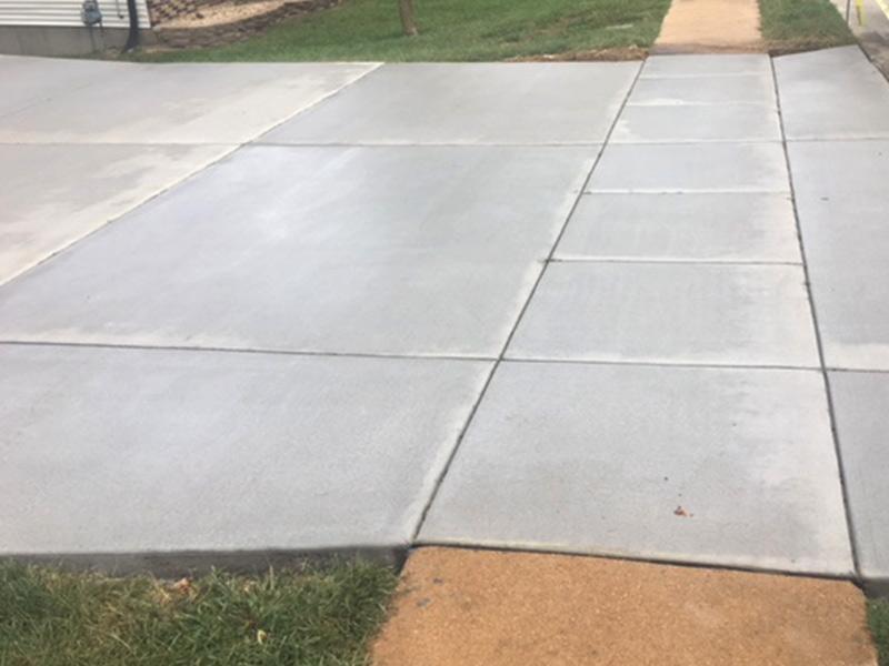 C and M Concrete Driveway Rubaroc porch -6