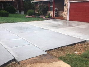 C and M Concrete Driveway Rubaroc porch -7