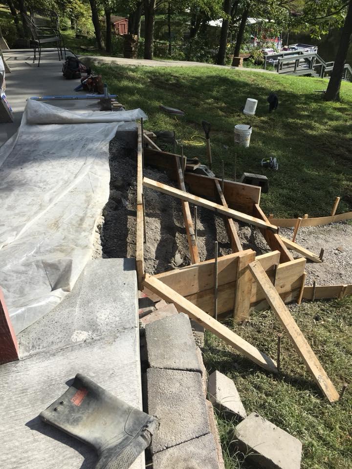 C and M Concrete Fire Pit Installation Concrete Projects St Louis-10
