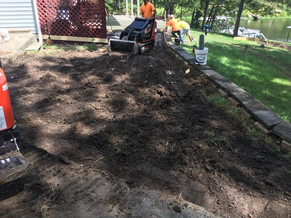 C and M Concrete Fire Pit Installation Concrete Projects St Louis-12