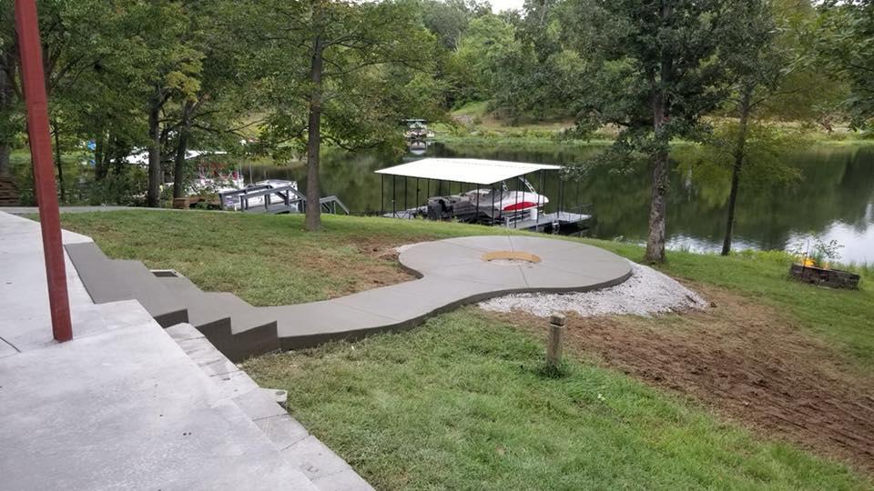 C and M Concrete Fire Pit Installation Concrete Projects St Louis-2
