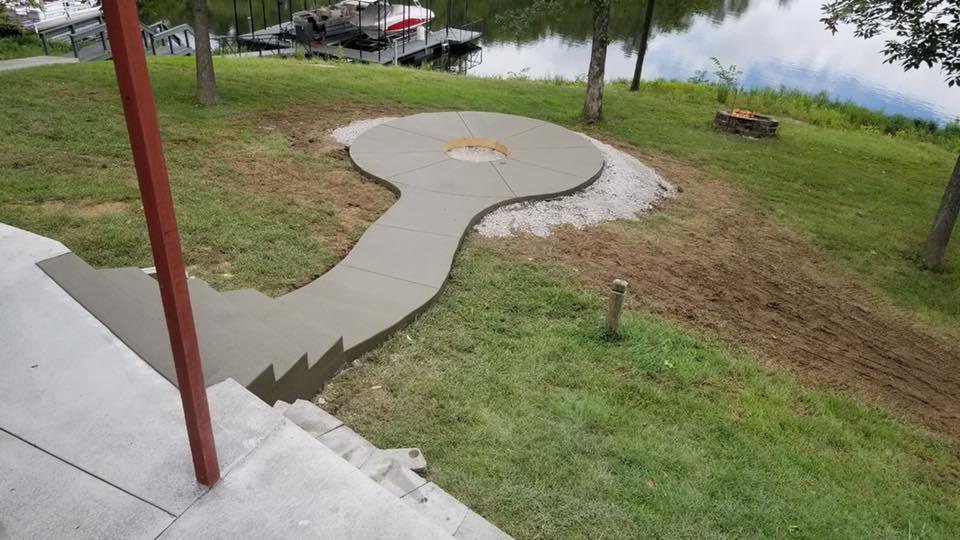 C and M Concrete Fire Pit Installation Concrete Projects St Louis-3