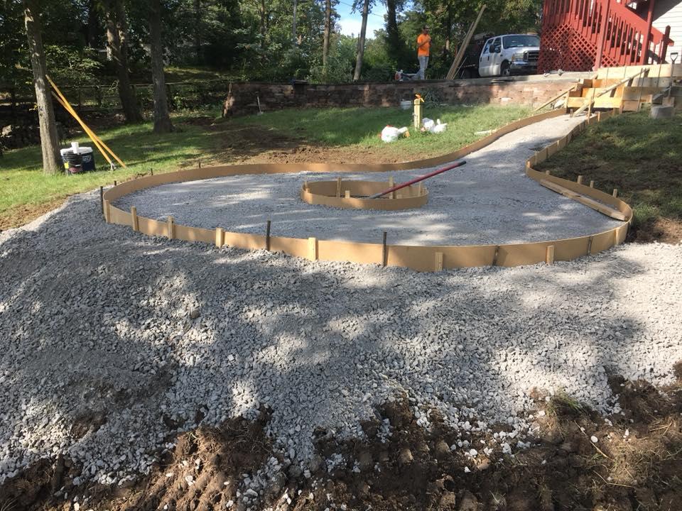 C and M Concrete Fire Pit Installation Concrete Projects St Louis-8
