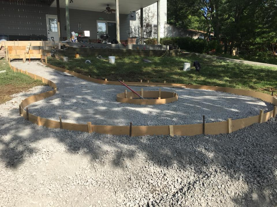 C and M Concrete Fire Pit Installation Concrete Projects St Louis-9