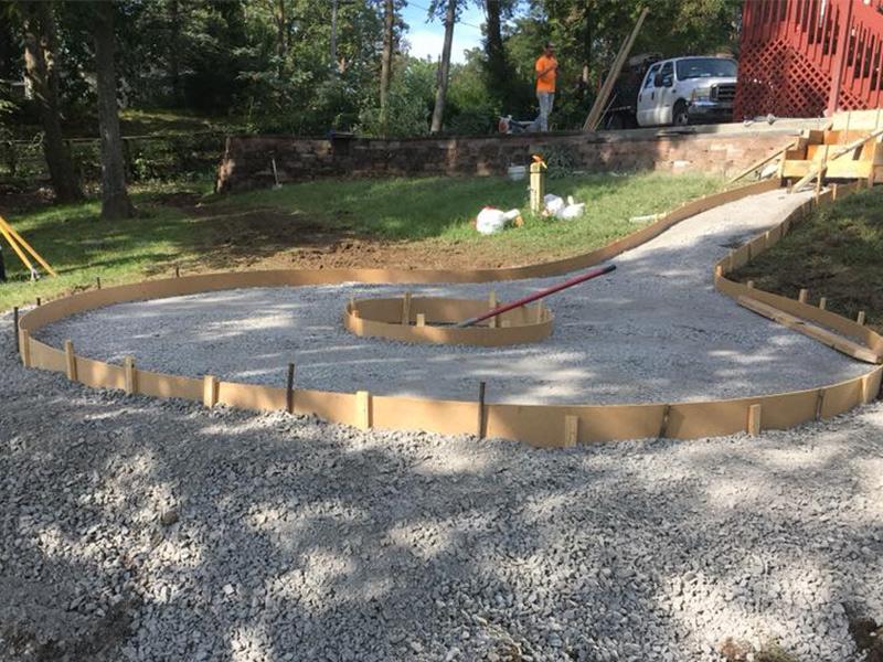 C and M Concrete Fire Pit Patio -5