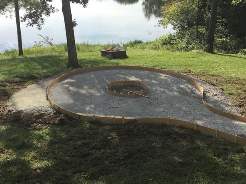 C and M Concrete Fire Pit Patio -6