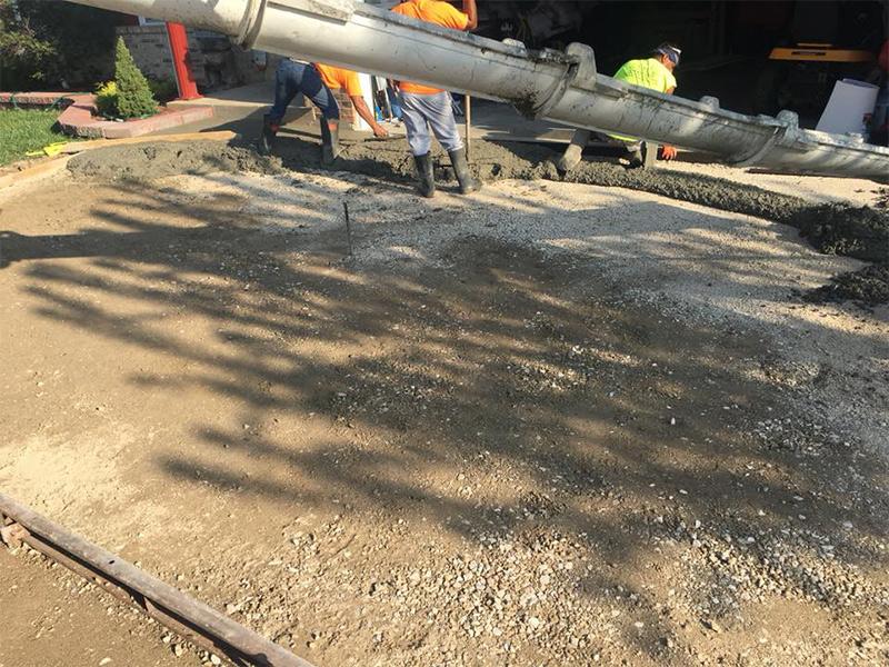 C and M Concrete Fire Pit Patio -9