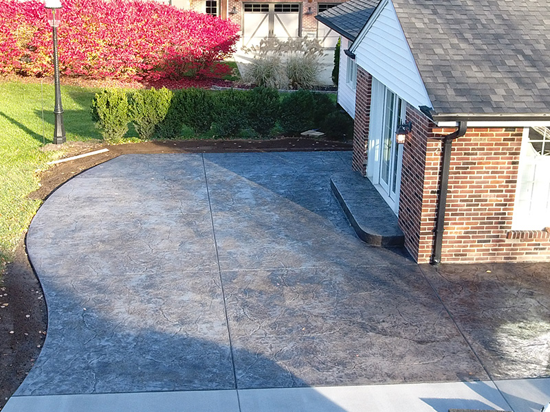 C and M Concrete Stamped Stained Patio -1-1