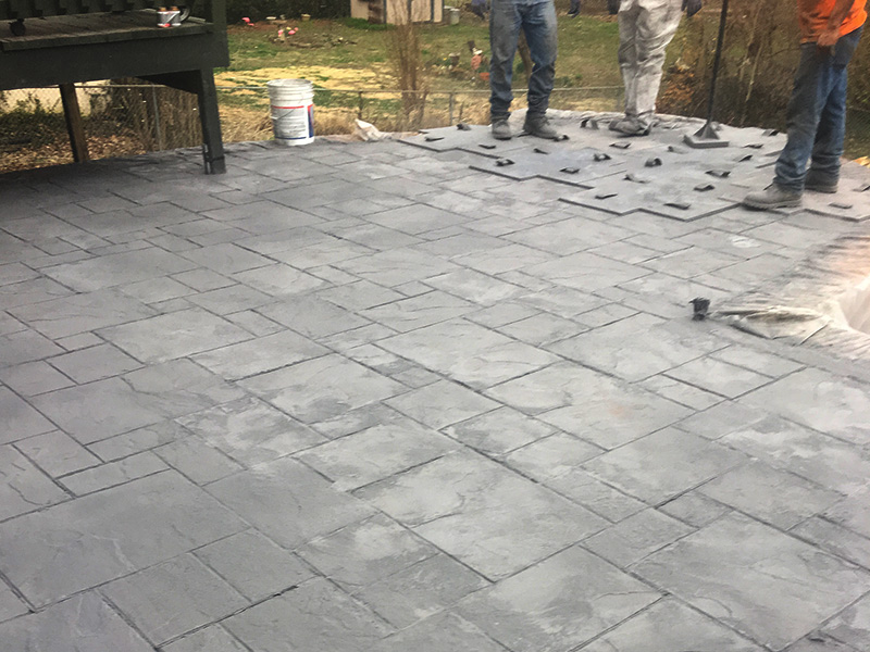 C and M Concrete Slate Patio -5