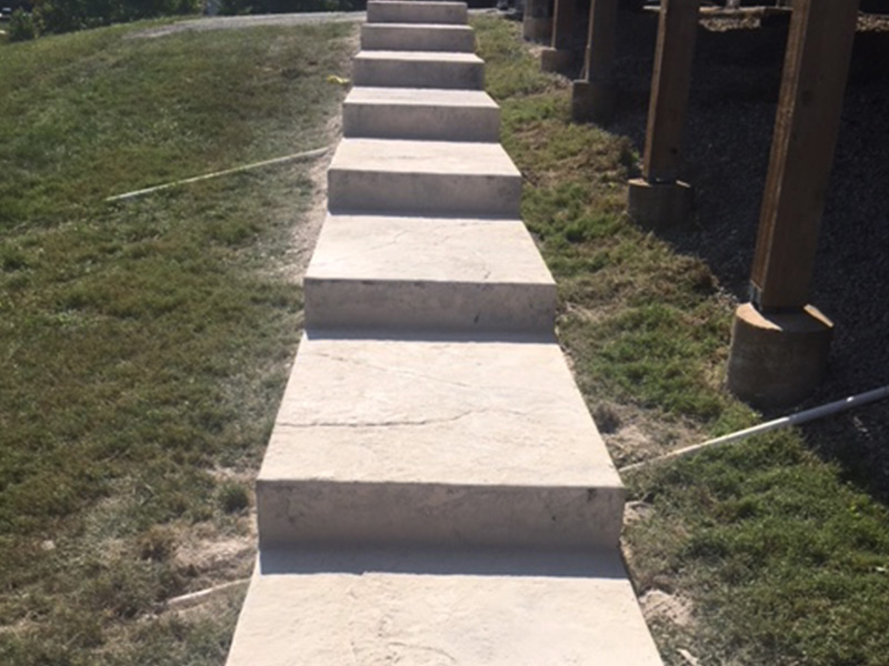 C and M Concrete Slate Stamped Steps -5