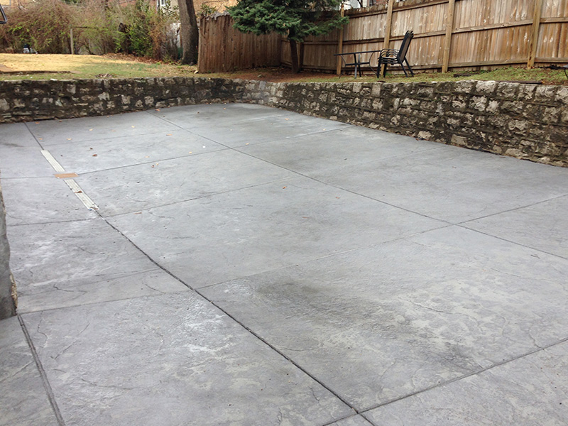 C and M Concrete Stained Driveway -2