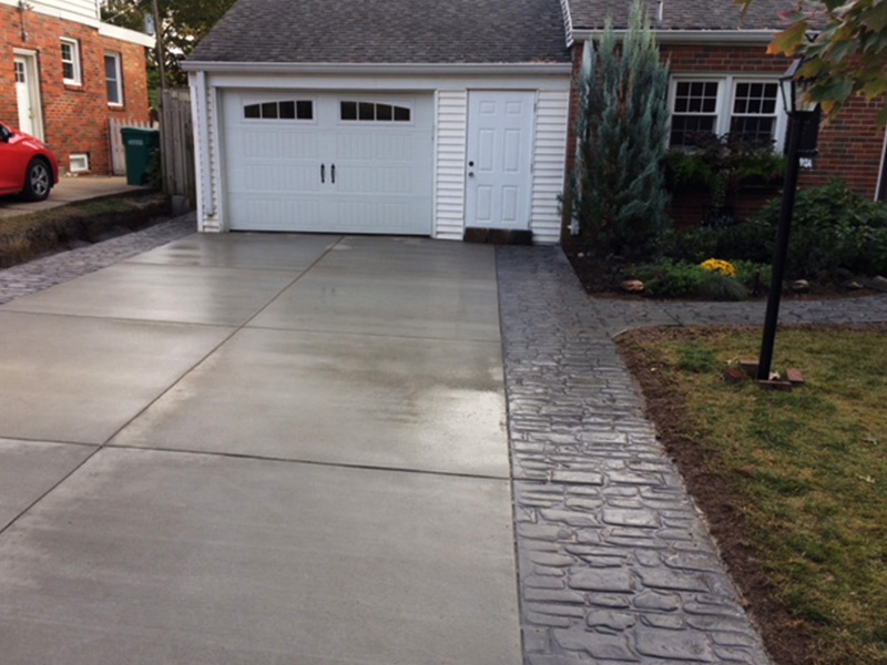 C and M Concrete Stamped Broom Swept Concrete-4