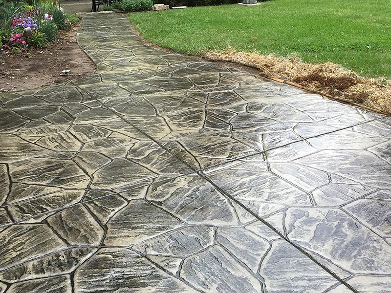 C and M Concrete Stamped Concrete Patio -1