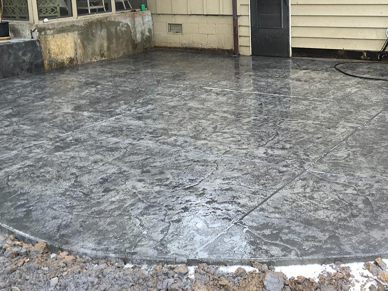C and M Concrete Stamped Concrete Patio -2