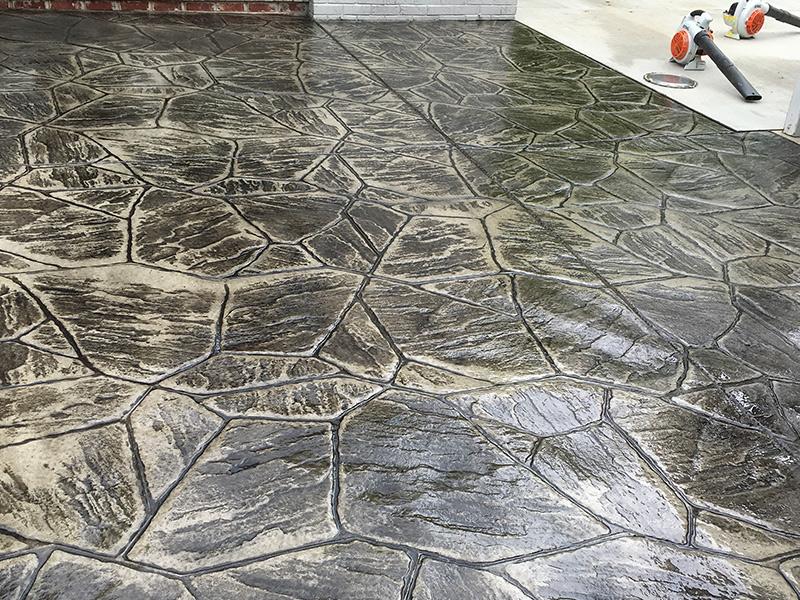C and M Concrete Stamped Concrete Patio -3