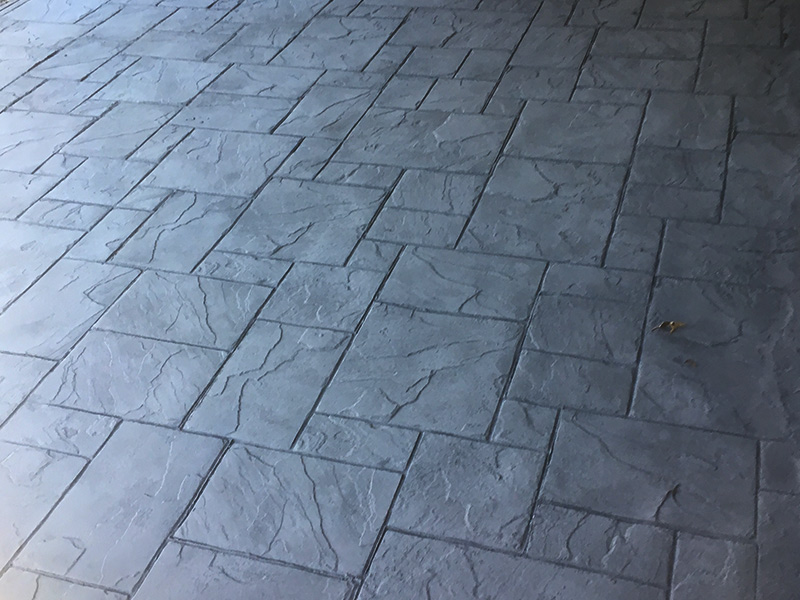 C and M Concrete Stamped Stained Patio -2