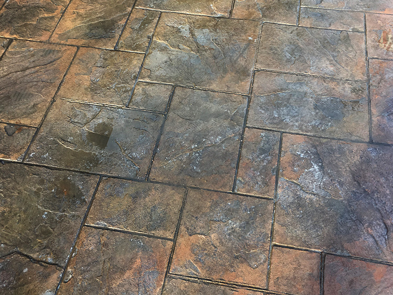 C and M Concrete Stamped Stained Patio -4