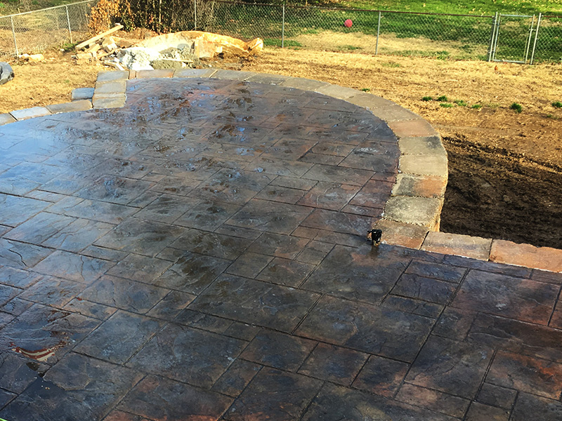 C and M Concrete Stamped Stained Patio -6