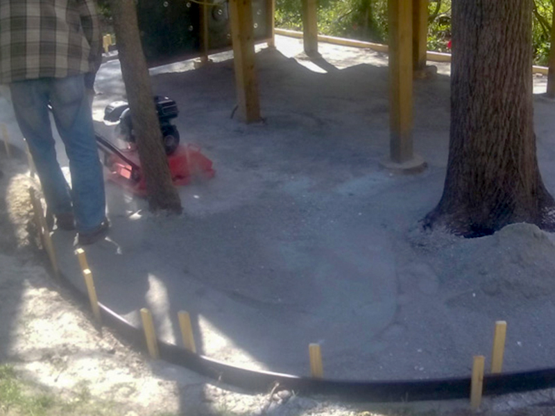 C and M Concrete_Rubaroc_Rubber Surface Install Playground