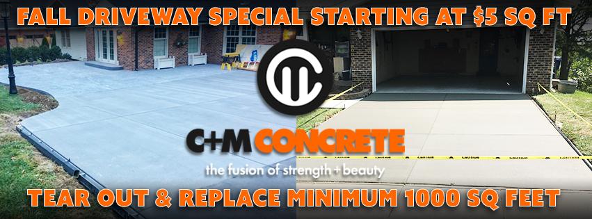 C & M Concrete - 2019 Facebook Banner